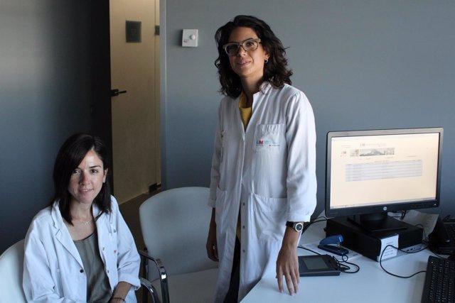 Las doctoras Pingarrón y Garrido del Hospital Rey Juan Carlos