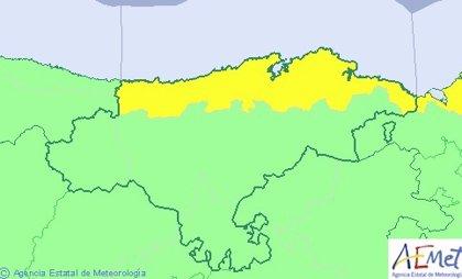 El litoral de Cantabria, este jueves en riesgo por lluvias
