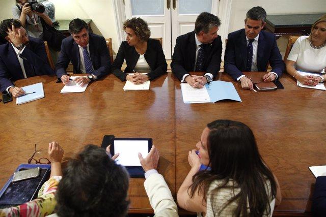 Reunión de los Consejos de Dirección de los Grupos Parlamentarios del PP en el S