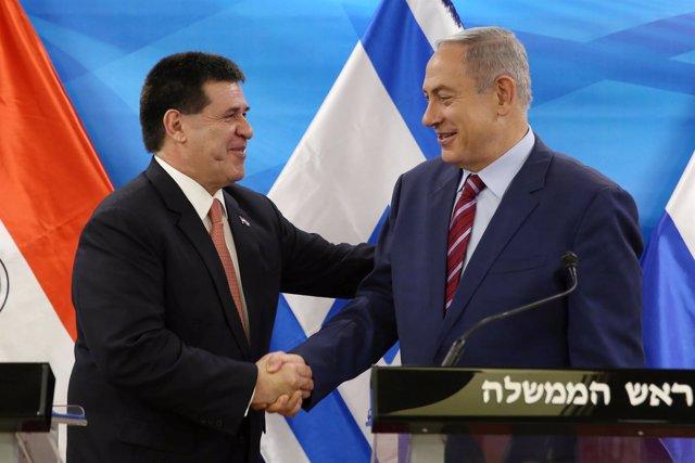 Horacio Cartes y Benjamin Netanyahu