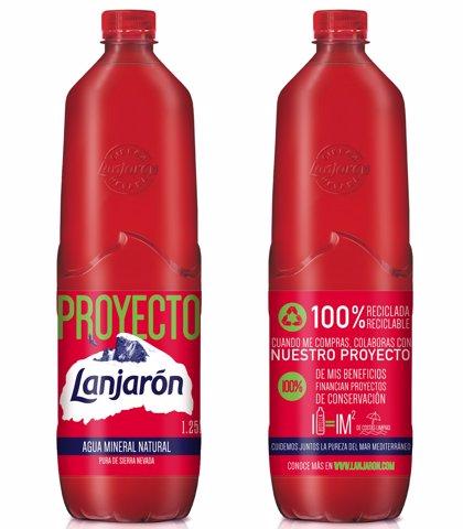 Lanjarón lanza una botella 100% reciclada y reciclable