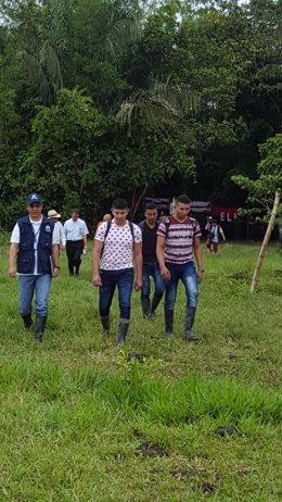 Militares liberados por el ELN
