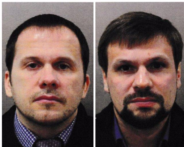 Foto de los dos rusos imputados por el caso Skripal