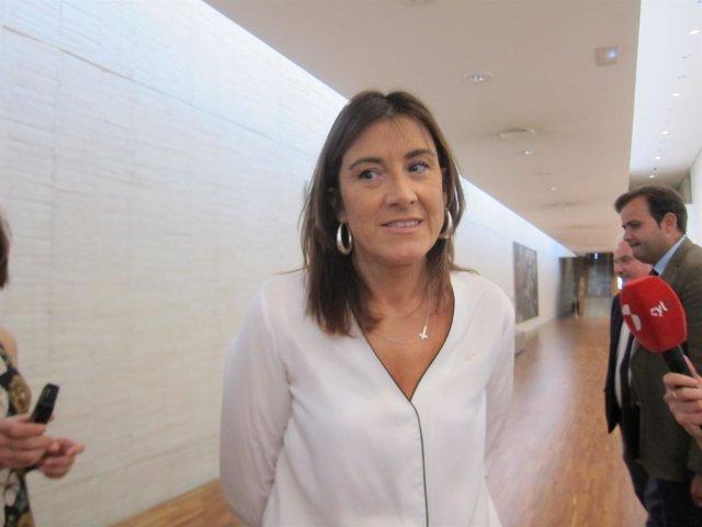 La procuradora del PSCyL, Ana Sánchez.