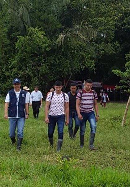 El ELN pone en libertad a tres de los soldados que mantenía secuestrados