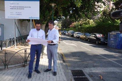 El Ayuntamiento destina cerca de 300.000 euros a la renovación urbana de Paseo de las Acacias en Pedregalejo