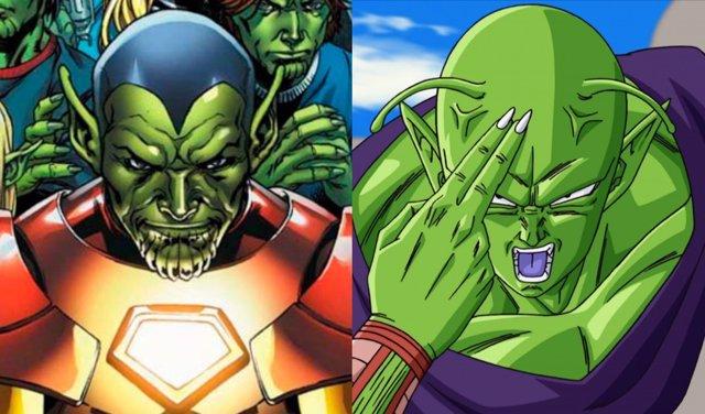 Skrulls y Piccolo de Dragon BAll