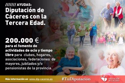 La Diputación de Cáceres destina 200.000 euros para actividades de ocio dirigidas a la tercera edad