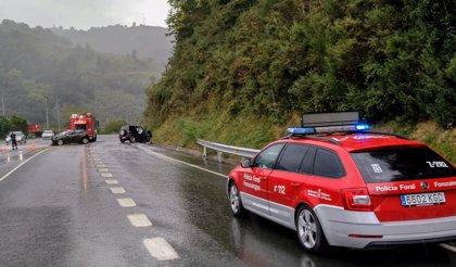 Tres heridos leves en un accidente de tráfico en Bera