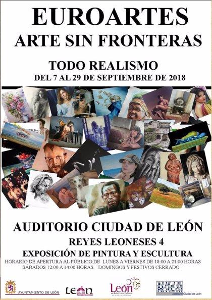 'Euroartes' expone cerca de 50 obras hasta el 29 de septiembre en el Auditorio Ciudad de León