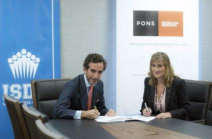 ISDE y PONS colaborarán en el Máster en Gestión y Representación de Artistas y Deportistas
