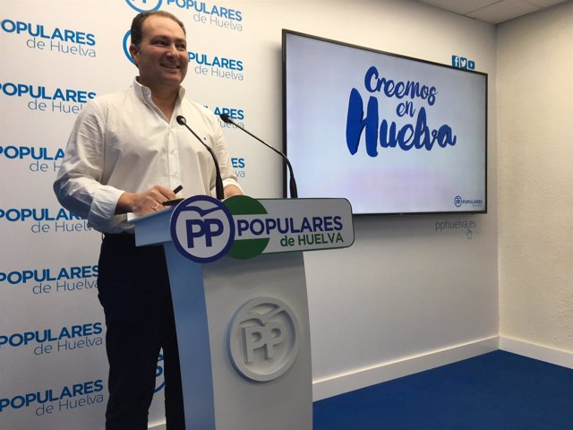 El secretario general del PP de Huelva, David Toscano.