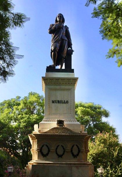 El Ayuntamiento de Sevilla concluye la restauración del monumento a Murillo de la Plaza del Museo