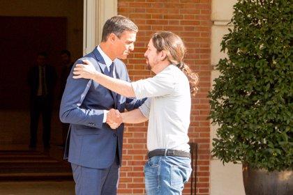 Sánchez e Iglesias se reúnen en Moncloa para negociar el apoyo de Podemos a los Presupuestos