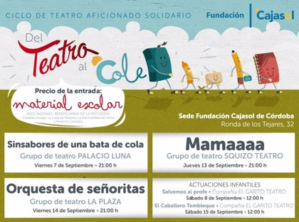 Fundación Cajasol inaugura una nueva edición del ciclo solidario 'Del Teatro al Cole'