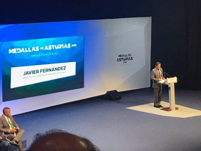 Intervención de Javier Fernández en la entrega de las Medallas de Asturias