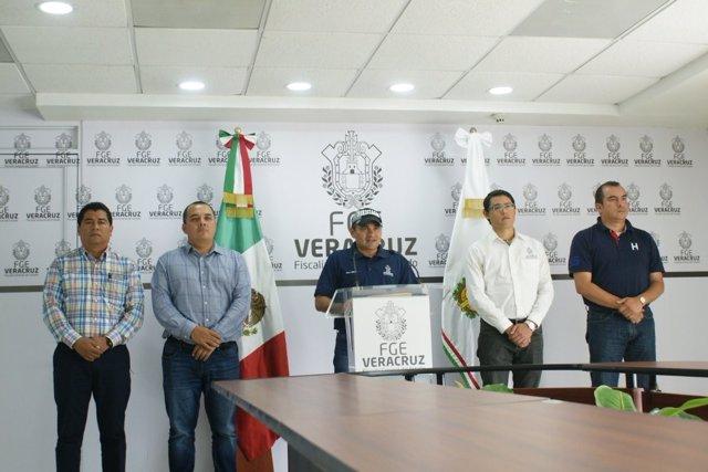 Comparecencia de la Fiscalía en el estado de Veracruz