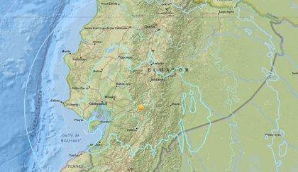 Un terremoto de magnitud 6,3 sacude el centro de Ecuador sin registrar víctimas