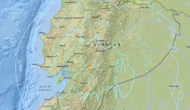 Registrado un terremoto de 6,3 en el centro de Ecuador
