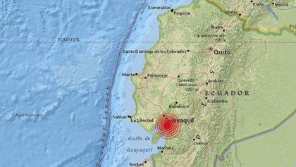 Al menos dos heridos leves tras un terremoto de magnitud 6,3 en el centro de Ecuador