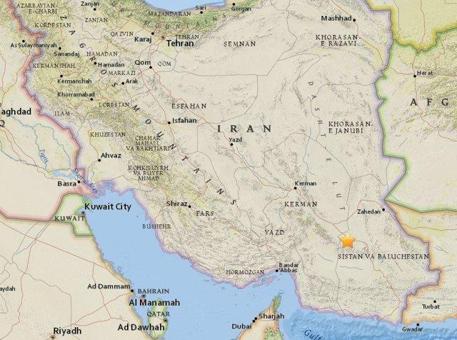 Terremoto de magnitud 5,5 en el sureste de Irán