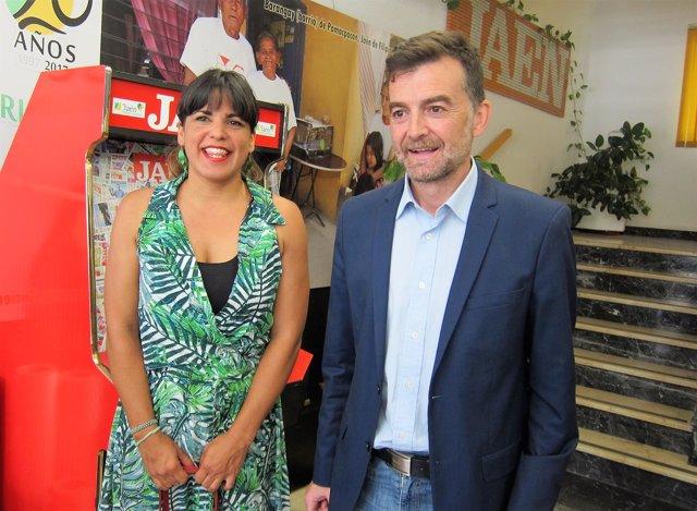Teresa Rodríguez y Antonio Maílllo.
