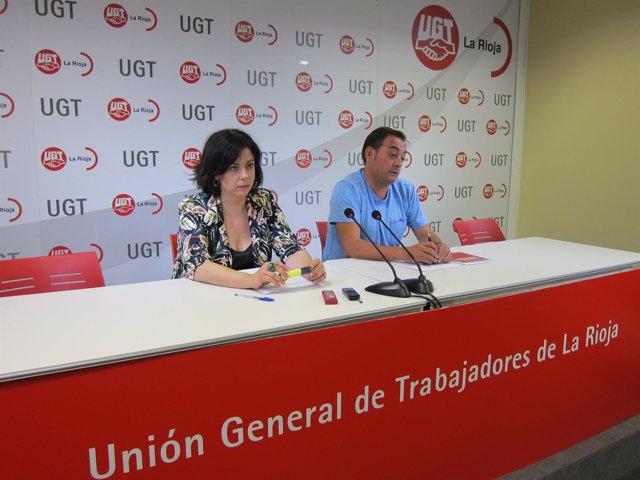 Ana Vaquero Y Carlos Alfaro, De UGT LA RIOJA