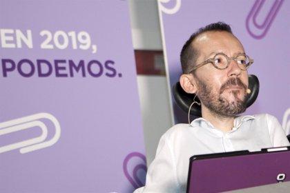 """Echenique ve positivo el acuerdo con Sánchez pero avisa de que criticarán """"duramente"""" algunas actitudes del Gobierno"""