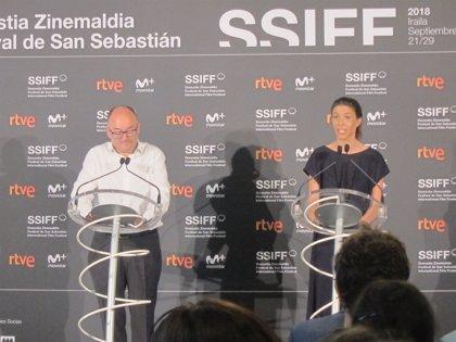 Ryan Gosling, Robert Pattinson y Juliette Binoche, en el Festival de Cine de San Sebastián