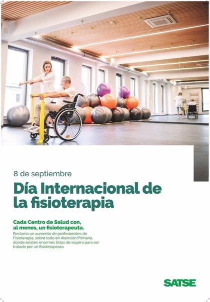 """Satse y Colegio de Fisioterapeutas alertan de que hay """"un profesional por cada 12.000 personas"""" en la sanidad pública"""