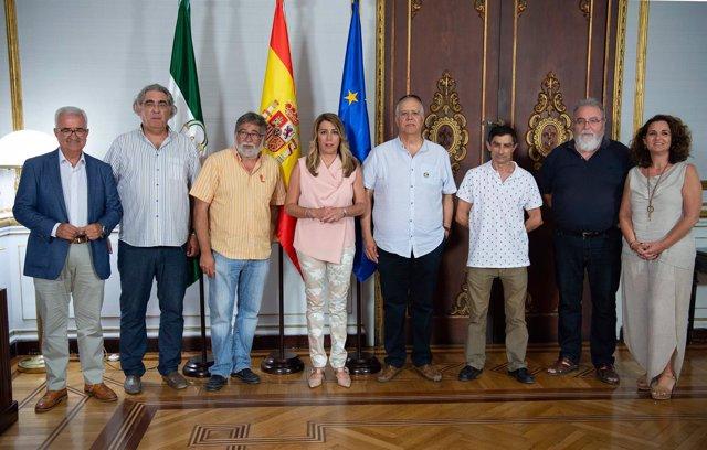 Susana Díaz recibe a miembros del comité de empresa de Navantia Puerto Real