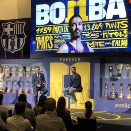 Acto de despedida a Juan Carlos Navarro, exjugador del Barça de baloncesto