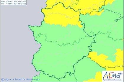 El norte de la provincia de Cáceres y el Tajo y Alagón, en alerta amarilla este sábado por lluvias y tormentas