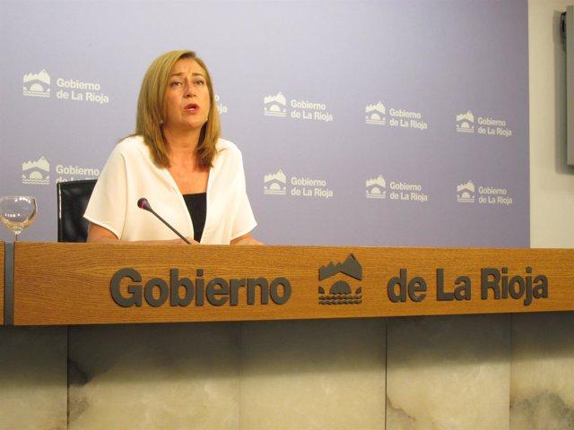 La portavoz del Gobierno riojano, Begoña Martínez