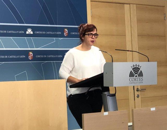 La portavoz adjunta de Podemos, Nuria del Barrio, 7-9-81