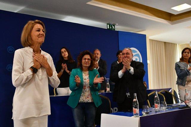 María Dolores de Cospedal en la Junta Directiva del PP C-LM