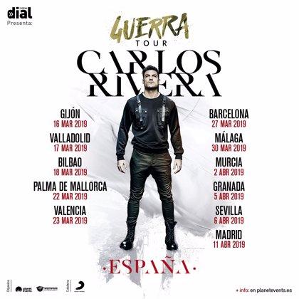Carlos Rivera actuará en once ciudades españolas presentando 'Guerra'