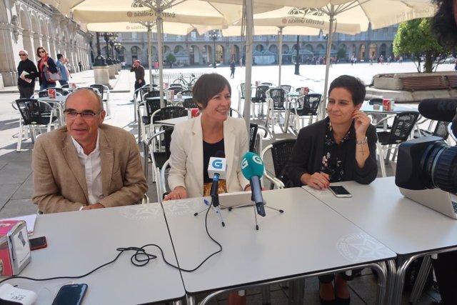 Rueda de prensa en A Coruña este viernes 7 de septiembre