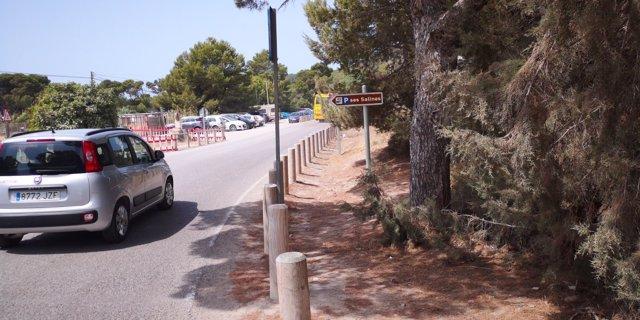 Señalización de accesos a Ses Salines (Ibiza)