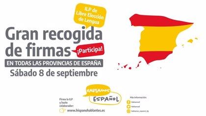 Recogen firmas en defensa de uso del español coincidiendo con la festividad de la Virgen de Covadonga