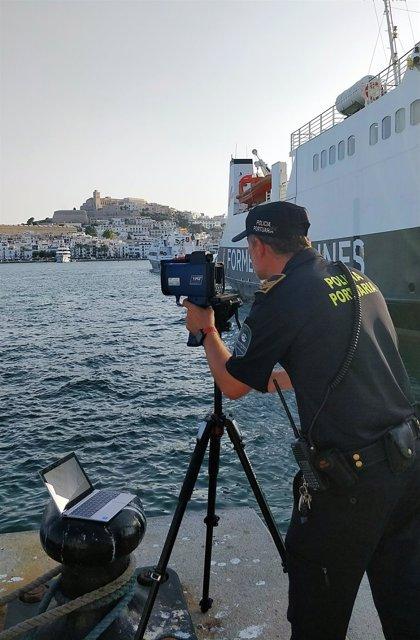 Instalan medidores de velocidad de navegación en los puertos de Ibiza y Formentera