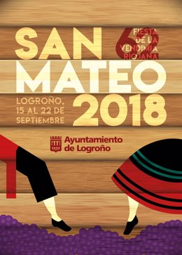 Cartel ganador para las fiestas de San mateo 2018.