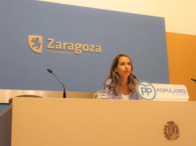 María Navarro en rueda de prensa este viernes.