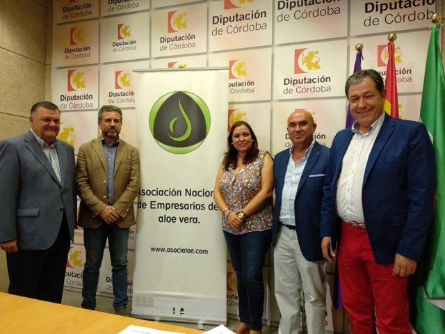 Autoridades en la presentación del II Congreso Europeo de Aloe Vera