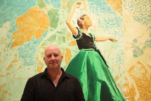 El pintor Miguel Gómez Losada