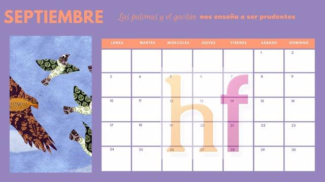 Calendario Septiembre Hacer Familia