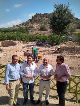 Imagen de la visita de los responsables de Ciudadanos a Monteagudo