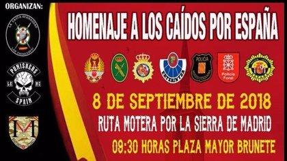 """Brunete acogerá este sábado una concentración de motos en homenaje a """"los caídos por España"""""""