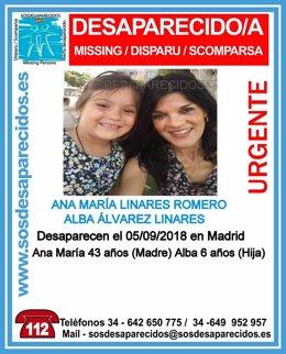 Madre e hija de Palma del Río desaparecidas en Madrid