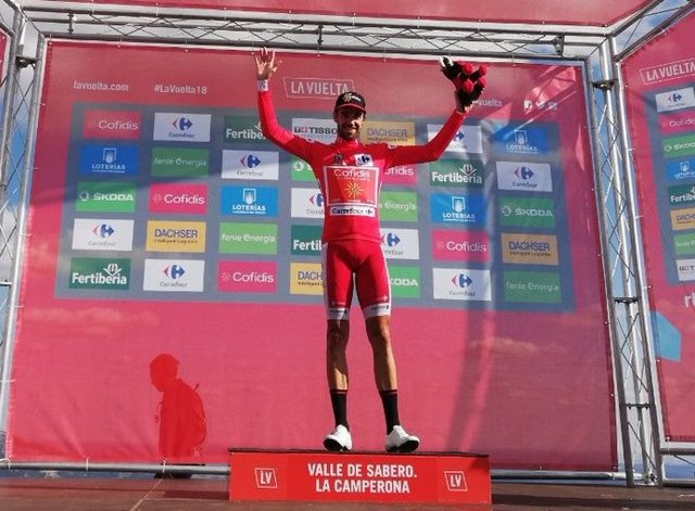 Jesús Herrada, líder de la Vuelta a España